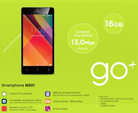 Smartphone Noblex GO+