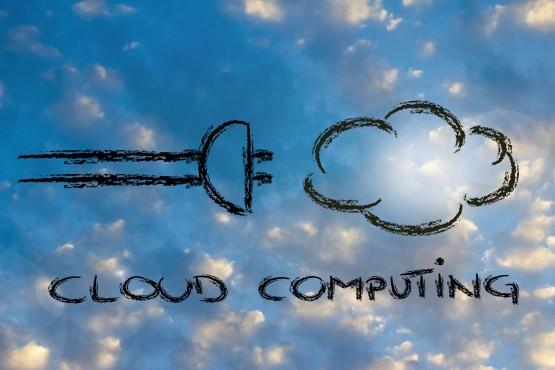 funny chalk design representing cloud computing