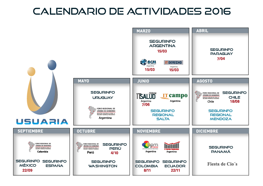 Calendario 2016 Argentina.Se Acerca Segurinfo Argentina 2016 Portinos