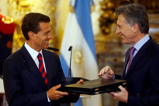 Peña Nieto estuvo en Buenos Aires el viernes 28 de julio de 2016. Su visita generó acuerdos pero fue recibida con protestas.