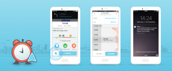 Waze - viajes planificados