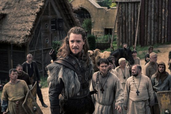 The Last Kingdom / Series Two Photographer: Des Willie © Carnival Film & Television Limited 2017 Alexander Dreymon (as Uhtred), Richard Rankin (Father Hrothweard)