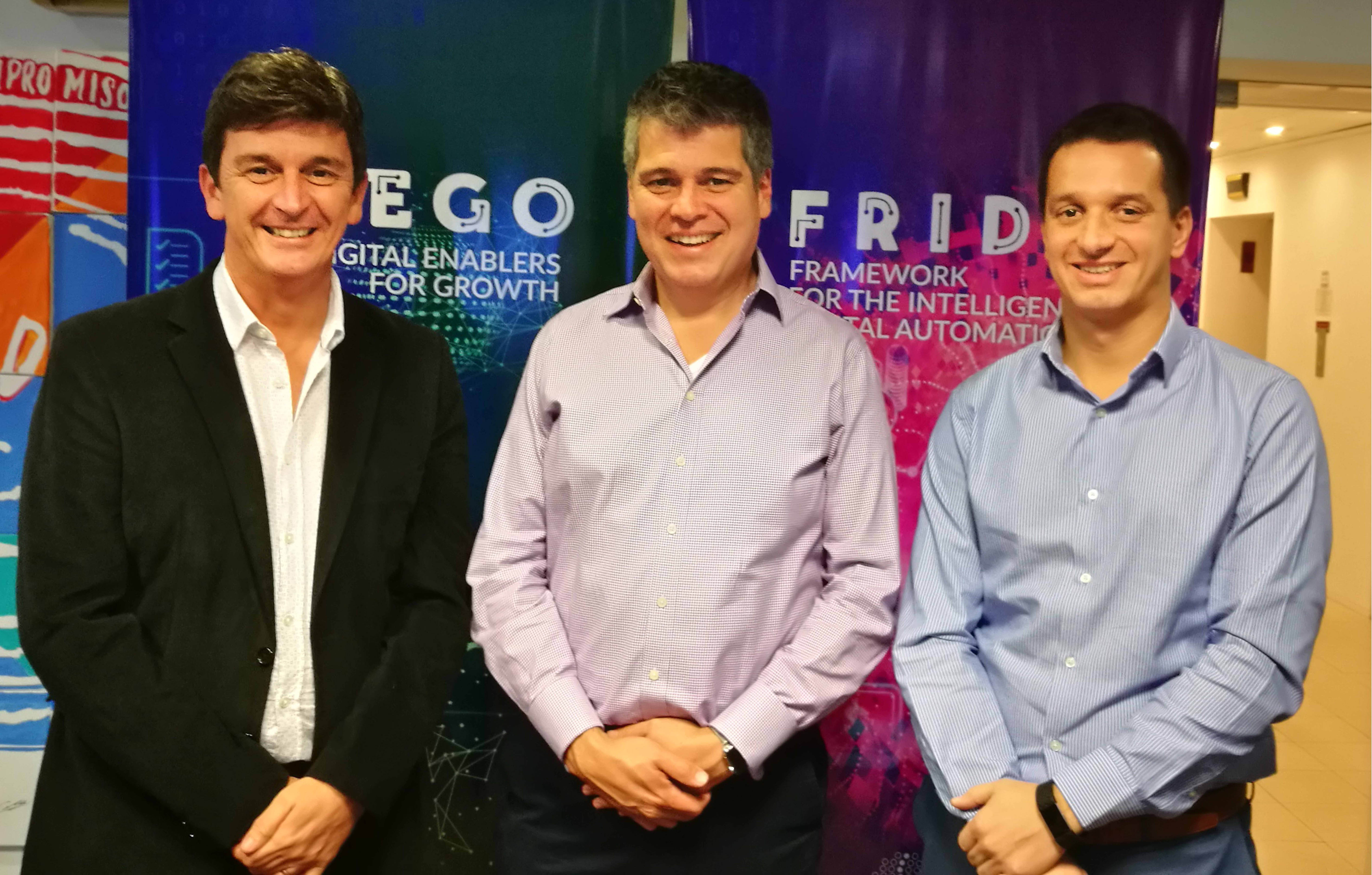 De Izquierda a Derecha: Mauro Mattioda, CEO Softtek Sudamérica Hispana; Alejandro Camino, VP de Marketing Global de Softtek; Juan José D'Alessandro - Director Comercial de Servicios Sudamérica Hispana